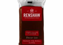 "Renshaw - ΖΑΧΑΡΟΠΑΣΤΑ PRO 500gr ΣΟΚΟΛΑΤΙ - ""CHOCOLATE FLAVOUR Ready to Roll Icing PRO"" (κωδ. 1377)"