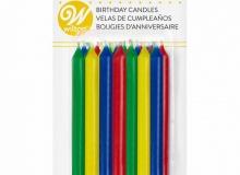 "Wilton ""Rainbow Birthday Candles"" - ΚΕΡΙΑ ΠΟΛΥΧΡΩΜΑ σετ 24 (κωδ. 3985)"