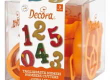 "Decora ""Number Cutters"" - ΚΟΥΠΑΤ ΠΛΑΣΤ. ΝΟΥΜΕΡΑ ΜΕΓΑΛΑ 7,5x5cm σετ 9 (κωδ. 8953)"